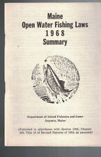 Maine Open Water Fishing Laws 1968 Summary Inland Fisheries & Game Department