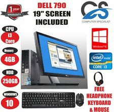 rapide DELL Optiplex 790 USFF PC Ordinateur Intel Core i3 4 Go 250 Go & 19 ""