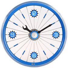 """16"""" Aluminum Bicycle Wheel Wall Clock - Blue"""