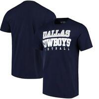 New Dallas Cowboys NFL Football t-shirt men medium authentic practice Navy Blue