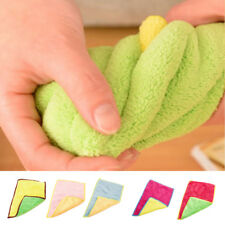 5x Microfiber Towel Kitchen Bathroom Bowl Dish Cleaning Cloth Rag Wipe Cleaning