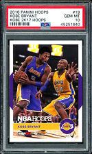 2016 Kobe Bryant Panini Hoops Kobe 2k17 Hoops #19 PSA 10 Gem Mint