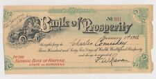 "1911 CHARLES COMISKEY ""Bank of Prosperity"" Fun Document from Baseball HOF"