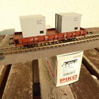 Piko 95417 Rungenwagen KKlm mit 2 Stück 10 Fuss-Containern der DR Epoche 4, OVP