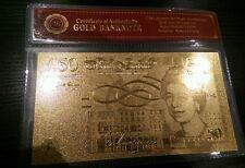 50 Pound 24K Gold Foil Bullion Bar UK stock