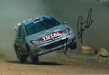 Marcus Gronholm Hand Signed 12x8 Photo Peugeot Rally.