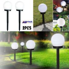 2PC LED Solar Power Outdoor Garden Path Light Yard Lawn Road Spot Lamp AU STOCK