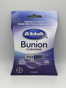 Dr Scholl's Duragel Bunion Cushion (5 cushions) Immediate Pain Relief New Sealed