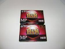 New Listing(2) Tdk Mp120 Hi8 Blank Camcorder Tapes