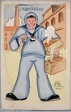 Illustratore UMBERTO RANZATTO Umoristica Marina Militare WWII PC Circa 1942 2
