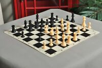 """Regulation Silicone Tournament Chess Set - Pieces Only - 3.75"""" King - Black & Na"""