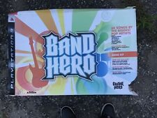 Band Hero  Full Band Drum Kit Guitar/Mic/Kick Pedal Playstation Ps3 BOXED