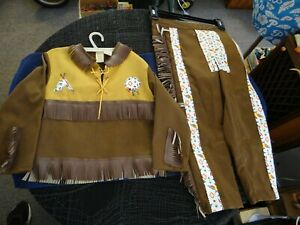 VINTAGE INDIAN OUTFIT WITH FRILLS - SIZE 6 - YOUNG TEXAN - VERY GOOD CONDITION!