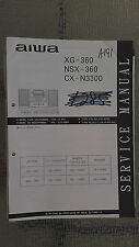 Aiwa xg-360 nsx-360 cx-n3300 service manual original repair book stereo 87 pages