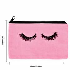 New Pink Makeup Bag with Eyelashes on Front. Perfect for your Magnetic Lashes