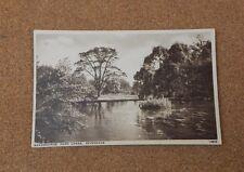 Bradbourne Park lakes Sevenoaks Kent Sepia Postcard unposted J.Salmon XC1
