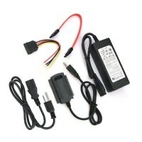 USB 2.0 to SATA IDE power adapter Converter Cable For 3.5 Hard Drive 1PCS