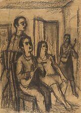 RUDI GRUNER - SINGENDE II - Federzeichnung 1950