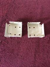 "High Profile Box Mounting Bracket Set for Window Blinds Alabaster 2""H x 2.25""W"