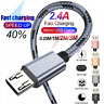 For Samsung Galaxy S7 S6 S5 Note 5 4 Micro USB Fast Charging Cable Data Charger