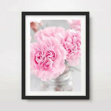 Pink Carnations FLOWERS FLORAL PHOTOGRAPHY ART PRINT Decor Wall A4 A3 A2