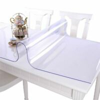 Soft Glass PVC Tablecloth Waterproof Anti-hot Table Cloth Transparent Table Mats