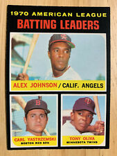 1971 OPC O-PEE-CHEE #61 1970 AL BATTING LEADERS Baseball Card