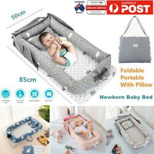 Portable Baby Nest Bed Pillow Bed Folding Newborn Bassinet Lounger Cot Sleeping