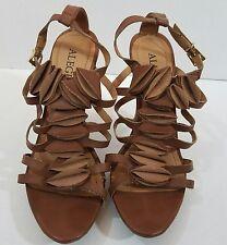 NWOB Alegria Tan Brown Petal Sandals Heels Size 7