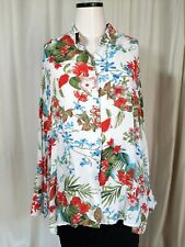 Plus size M/L women's shirt by Jowell.v neck & collar. long sleeves. multicolour