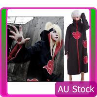 Naruto Akatsuki Cloak Robe Anime Cosplay Costume Uchiha Sasuke Itachi Outfits