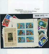 Germany DDR Complete Mint  Year Set 1972 at 1/3 Scott Catalog Price