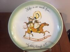 Vintage Holly Hobby Life Is So Much Fun Why Hurry Through It Horse