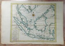 INDONESIA MALAYSIA 1773 NICOLAS BELLIN NICE ANTIQUE ENGRAVED MAP 18TH CENTURY