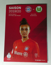 Programm  FC Bayern München - VfL Wolfsburg 16.11.2019 DFB-Pokal Frauen