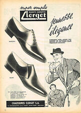 PUBLICITE ADVERTISING  1958   CLERGET  chaussures