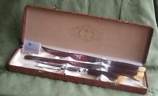 Vintage Glo-Hill Connoisseurs Choice 3 Piece Carving Set in Case