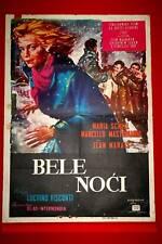 WHITE NIGHTS MASTROIANNI MARIA SCHELL 1957 RARE EXYU MOVIE POSTER