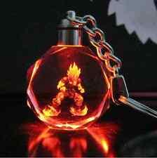 Dragonball Schlüsselanhänger Dragon Ball Z Son Goku Super Saiyajin Kristall LED