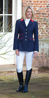 Shires henley ladies competition show jacket - navy, black  showing all sizes