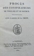1822 PROCÈS DES CONSPIRATEURS DE THOUARS ET DE SAUMUR
