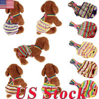 US Dog Diapers Washable Pet Clothes Belly Bands Puppy Female Pet Dogs Size S-L