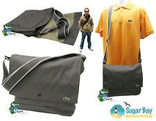 LACOSTE Unisex Messenger Shoulder Bag New City Casual 5 Stone Grey AUTHENTIC