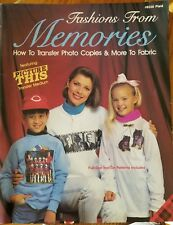 Fashions from Memories transfer photo copies & more Iron-on Transfers Book NOS