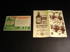 Circa 1930s Trommer's Postcard/Paper Booklet Pairing, Brooklyn, New York