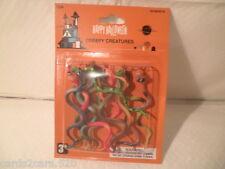 "+SHIPS FAST+ 12 Pack 5"" Slithering Snakes Fake Halloween Decoration Prank"