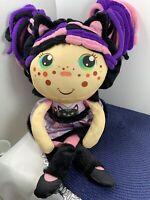Flip Zee Girl ZURI CAT 2 in 1 Reversible Plush Doll Black Pink Kitty Flipzee