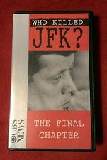 Who Killed JFK ? The Final Chapter: Rare OOP VHS; 1993; John F Kennedy, CBS News