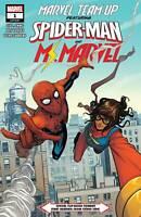 MARVEL TEAM-UP #1 Stock Image NM-VF 2019 Spider-man Ms Marvel Flip Book