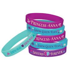 FROZEN Rubber Bracelets Pack of 4 Favours Party Bag Filler Birthday Kid Disney